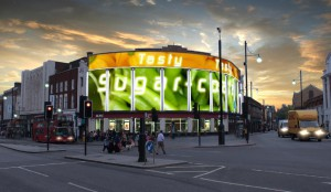 Proposed design for LED advertising boards in the centre of Brixton