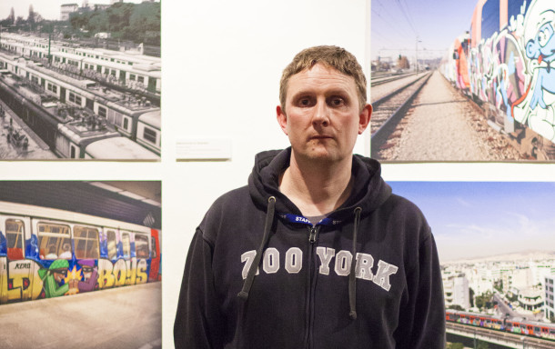 Frank Malt at 198 Contemporary Arts and Learning's exhibition of his photographs