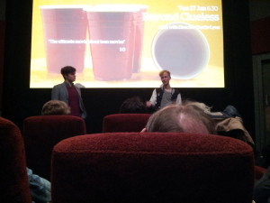 Q&A with the director. Photo by Keith Wallis.
