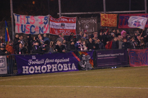 Fans watching Dulwich Hamlet play Stonewall FC (Sandra Brobbey for the Brixton Blog)