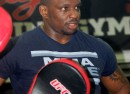 Dillian Whyte at Miguel's Gym.