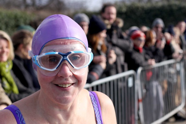Swimmer Anne braves the cold