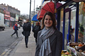 Helen Hayes, Labour's prospective parliamentary candidate for Dulwich and West Norwood, in Brixton