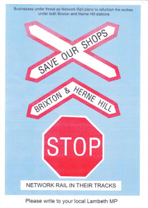 Save our shops poster