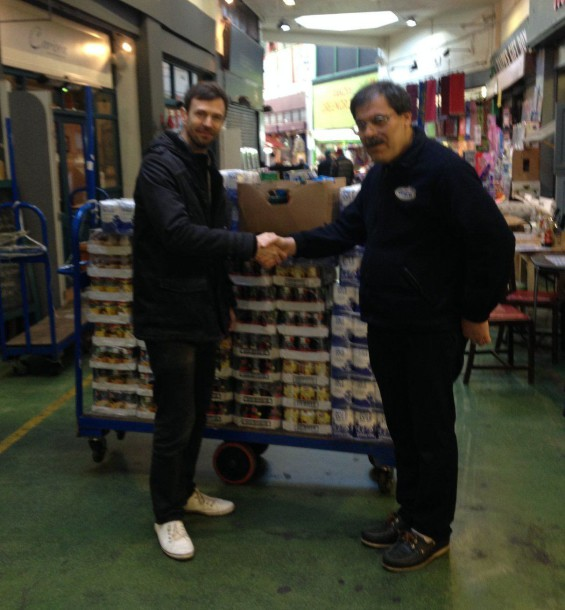 Nour Cash & Carry donating to the foodbank