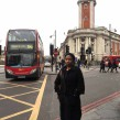 Cllr Jennifer Brathwaite in Brixton Road - one of the most polluted streets in London