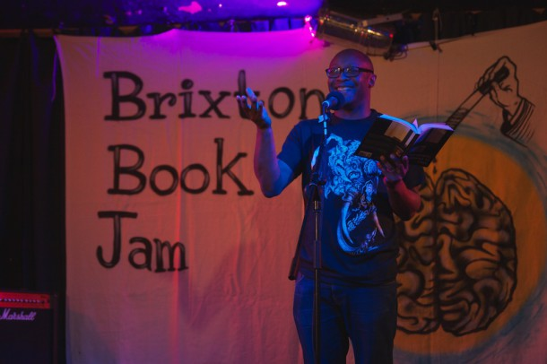 Courttia Newland at the Bookjam. Photo credit: Stuart Taylor