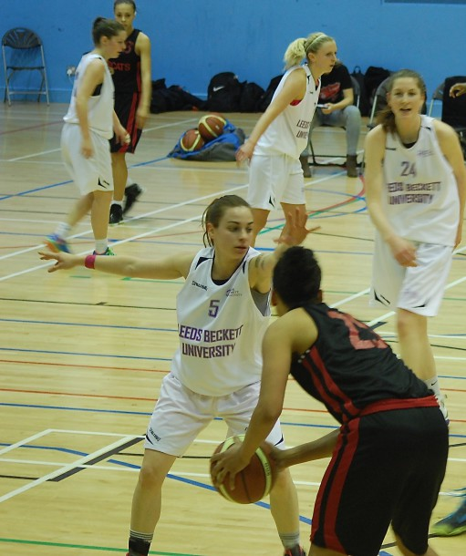 Topcats Ladies in action against Leeds Beckett University (Photo: Brixton Blog)