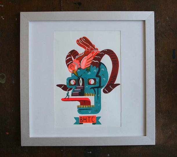 Skull and Cockerel by Josh Fox and Jordan Pryke