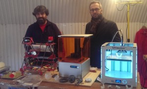 Gordon Endersby and Darren Bex, community members of South London Makerspace, use its 3D printers