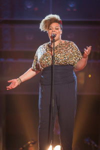 Lara Lee performs on the Voice. Photo credit: BBC