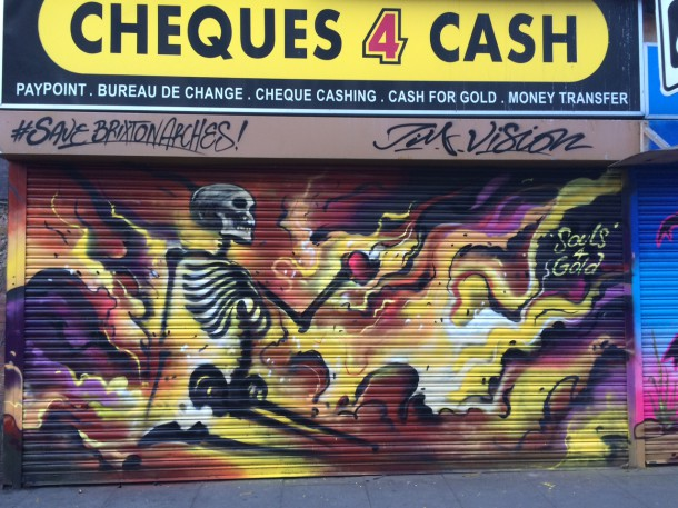 cheques for cash mural