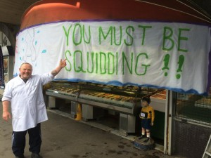 Lorne Mash with the sign before it was removed