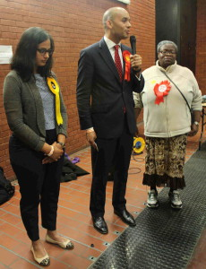 Chuka Umunna was re-elected as MP for Streatham