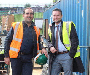Pop Brixton's Commercial Director Philippe Castaing (left) with Cllr Jack Hopkins