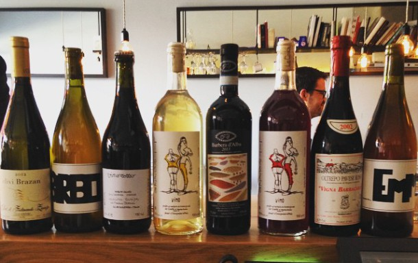 Nighty Piglets has a election of wines. Picture by @Tuttowines.