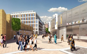 Artist's impression of the newly designed campus