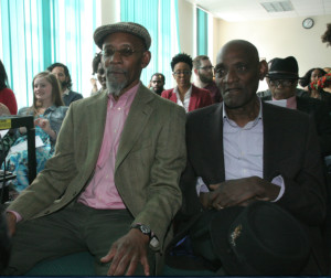 Darcus Howe (right) with Linton Kwesi Johnson