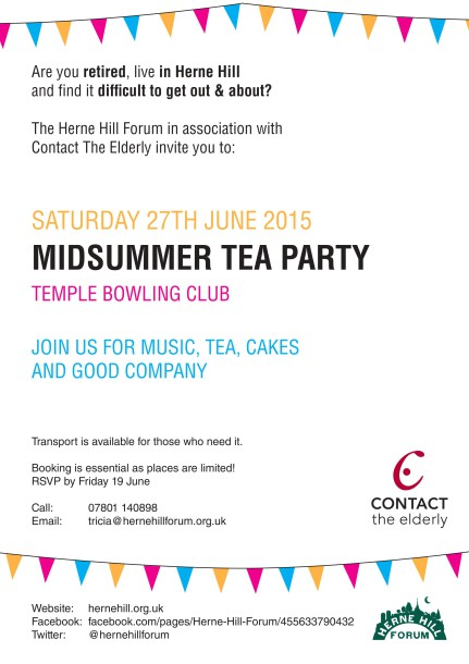 Herne Hill Forum Tea Party