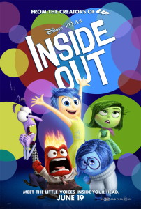 Pixar's Inside out. Photo courtesy of Walt Disney