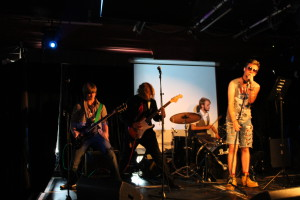 Rock quartet Bow Ties at the Rave perform 'Tunnel Vision' at Raw Roads showcase