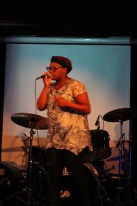 Singer-songwriter Tagz, a member of the Raw Roads artistic team, in her own song 'Merkahbah'