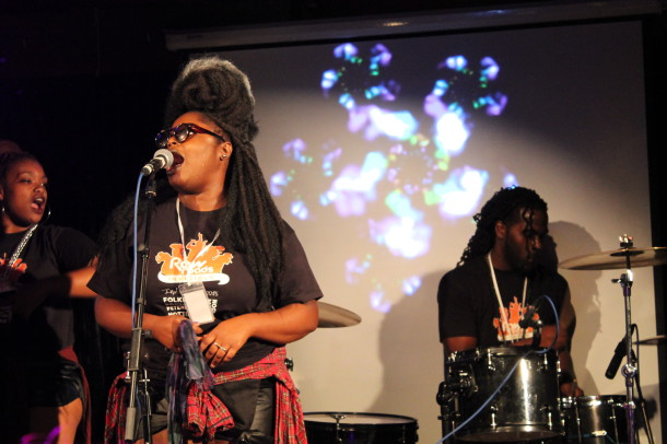 Tank and the Bangas perform at the Raw Roads showcase
