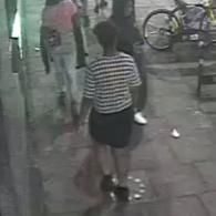 CCTV of Felicia Nwoso on the night she went missing