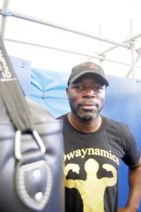 Richard Davis, a director at Dwaynamics and a coach at Miguel's Boxing Gym