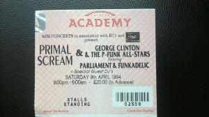 Brixton Academy ticket