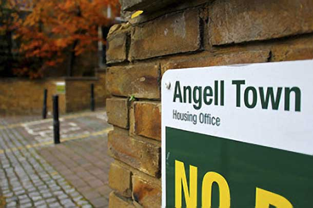 Angell Town sign