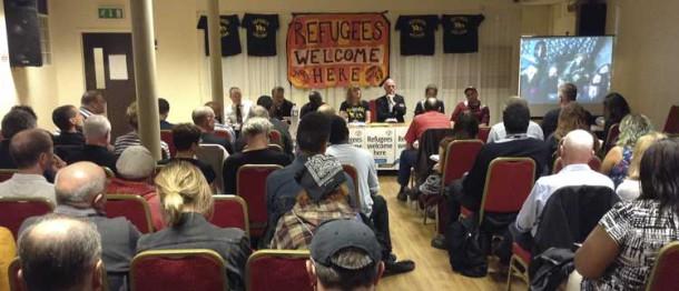 Refugee meeting at Karibu centre