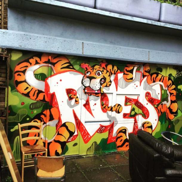 Brixton Bloc art on the walls