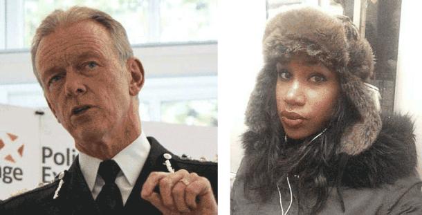 Sir Bernard Hogan Howe and Shahlaa Tahira