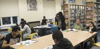 Readers in a Lambeth library