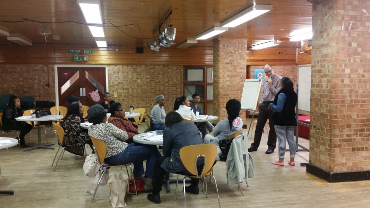 Tree Shepherd course attendees in Stockwell Park Centre