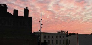 Dawn over Windrush Square