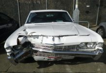 Imogen Paton's rare Chevrolet Impala, shown here, was wrecked by her abusive ex-partner