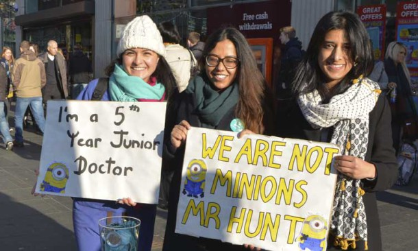 Junior doctors campaigning in Brixton