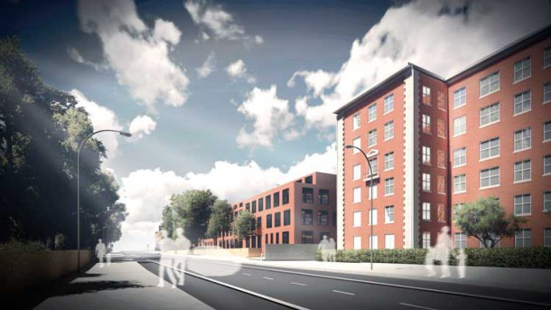 Architect drawing new college Brixton
