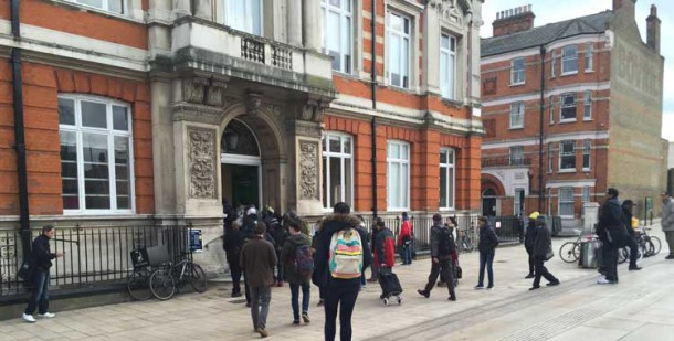 In demand: Opening time at Brixton library as the queue goes in