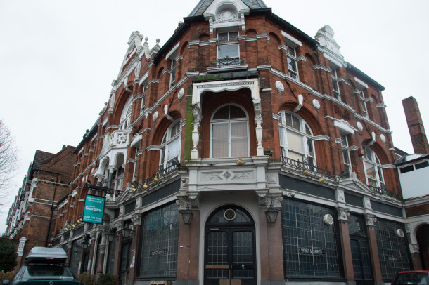 The Half Moon pub in Herne Hill