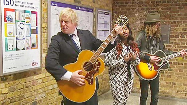 boris johnson busking