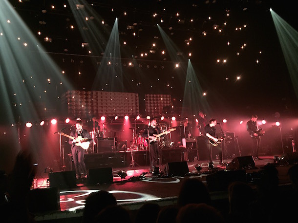 The Maccabees onstage at Brixton Academy. Photo by Andrea McCaul