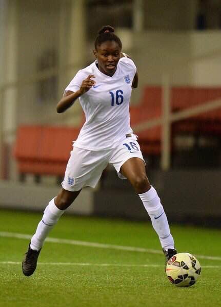 Rinsola Babajide in action for England (Photo: Tony Marshall/FA)