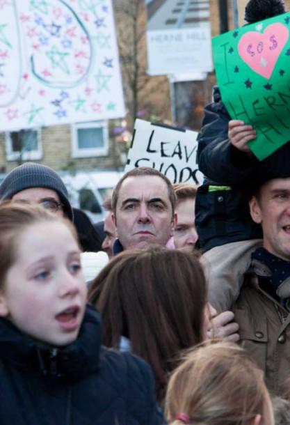 Just Williams protest HerneHill James Nesbitt