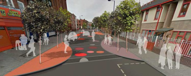How New Park Road would look after the Sustrans scheme