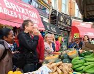 Stuart Horwood in Brixton Market
