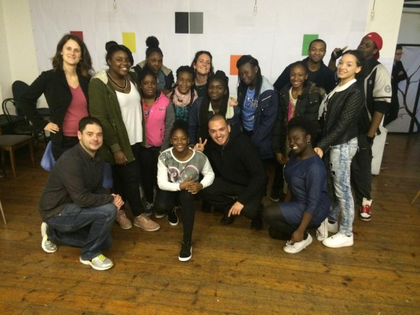 Smiling faces after a Poetic Unity workshop