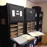 Herbarium cases open at South London Botanical Institute